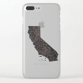 California Map Clear iPhone Case