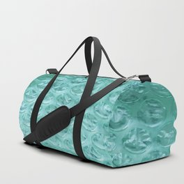 Aqua Bubble Wrap Duffle Bag
