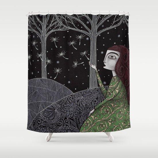 My Winter Stars Shower Curtain