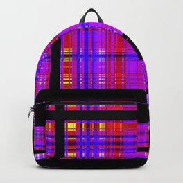 Unicorn Plaid Squares Backpack