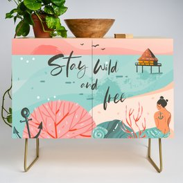 Stay Wild & Free Credenza