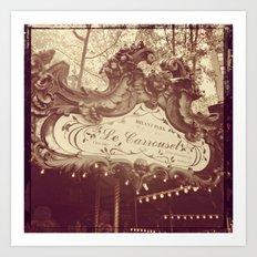 Le Carrousel Art Print
