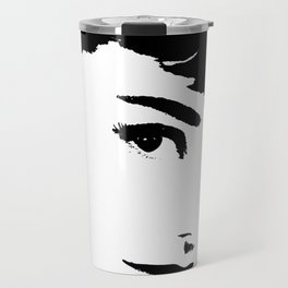 Audrey Simply Beautiful in Black and white Travel Mug