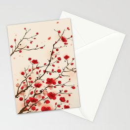 Oriental plum blossom in spring 006 Stationery Cards