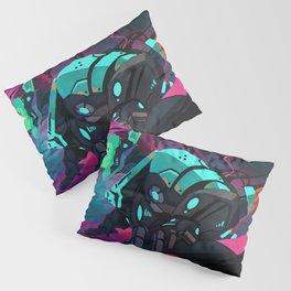 Fantastic Futuristic Cyber Punk Cyborg Girl Neon Lightsaber Ultra HD  Pillow Sham