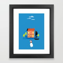 Big Cat Hunting Framed Art Print