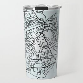 Bray, Ireland, White, City, Map Travel Mug