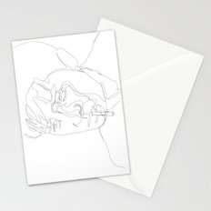 smoking man Stationery Cards