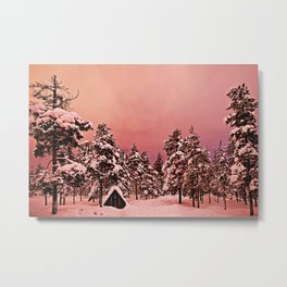 Magic of frozen forest Metal Print