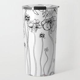 Floral Flytraps Travel Mug
