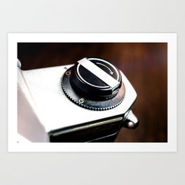 Vintage Photography Camera Detail Art Print