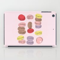 macaron iPad Cases featuring Macaron Amour by alexistitch