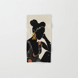 Black Hair No. 6 Hand & Bath Towel