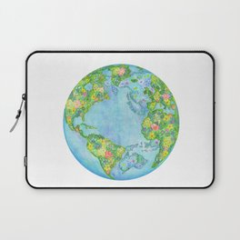 Floral Earth Laptop Sleeve