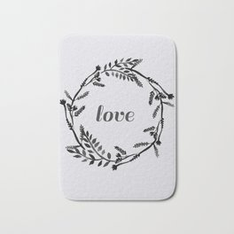 Baesic Mono Floral Love Bath Mat
