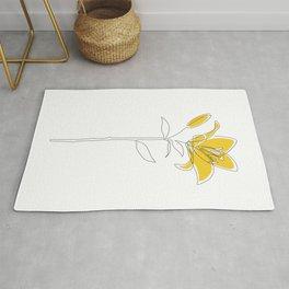 Mustard Lily Rug