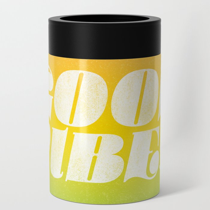 good vibes, rainbow Can Cooler
