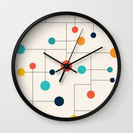 Mid Century Retro Pop Art 015 Wall Clock