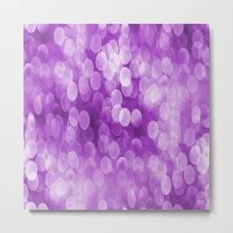Bokeh Light In Violet #decor #society6 #homedecor Metal Print