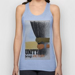 Unity Brings Victory - WWII Propaganda Poster Unisex Tank Top