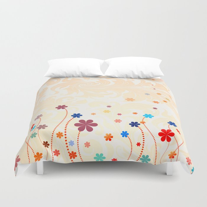 Summer Flowers Duvet Cover