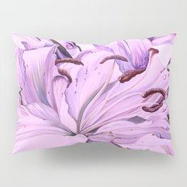 """Purple Lilies"" Pillow Sham"