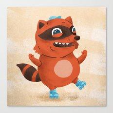 Rollerblade Raccoon Canvas Print