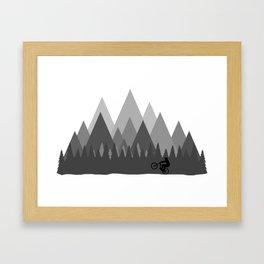 MTB Trailz Framed Art Print
