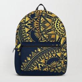 Blue & Gold Boho Pattern Backpack