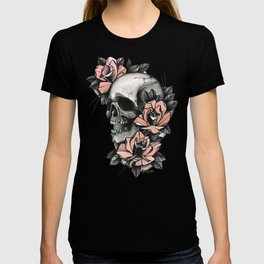 Skull and roses - tattoo T-shirt