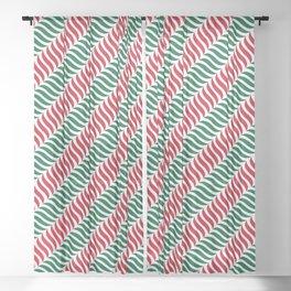 Green Red Xmas Pattern Sheer Curtain