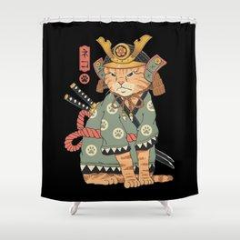 Neko Samurai Shower Curtain