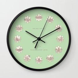 Endangered Love - Rhino Sutra Wall Clock