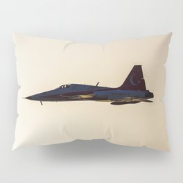 Turkish military acrobatic airplane in backlight Pillow Sham