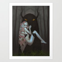 Forest Baby Art Print