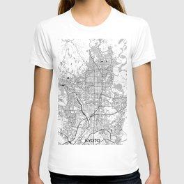 Kyoto Map Gray T-shirt