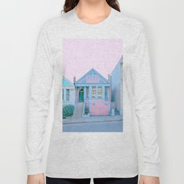 San Francisco Painted Lady Victorian House Long Sleeve T-shirt