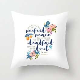 Perfect Peace Throw Pillow