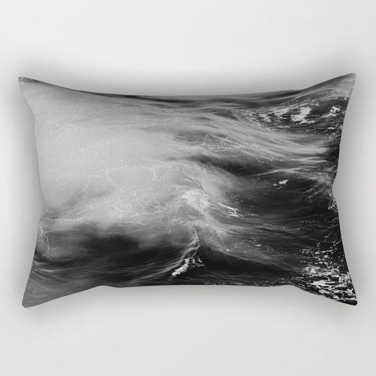 WAVES B&W Rectangular Pillow