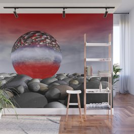 red sky and light refraction Wall Mural