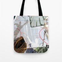 baseball Tote Bags featuring BASEBALL by Robin Curtiss