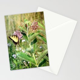 Butterfly and Milkweed Stationery Cards