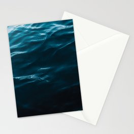 Minimalist blue water surface texture - oceanscape Stationery Cards
