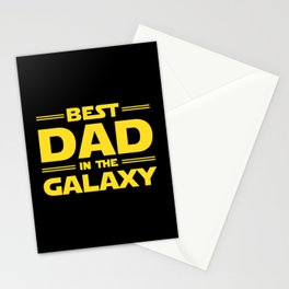 Best Dad in the Galaxy Stationery Cards