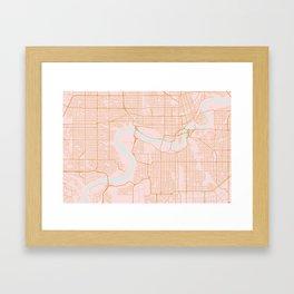 Edmonton map, Canada Framed Art Print