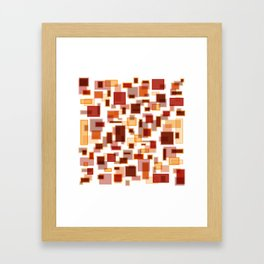 Red Abstract Rectangles Framed Art Print