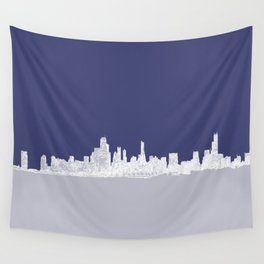 Chicago Skyline Wall Tapestry