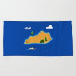 Kentucky Island Beach Towel