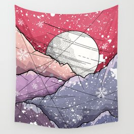 Mountains of Christmas Wall Tapestry