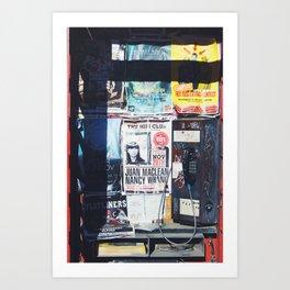 Phonebooth Clutter  Art Print